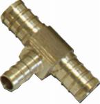Watts Brass & Tubular LF P-541 1/2 x 3/8 x 3/8-Inch Brass Barb Pex Tee