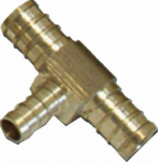 Sharkbite/Cash Acme UC452LFA 1/2 x 3/8 x 3/8-Inch Brass Barb Pex Tee