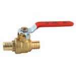 Watts Brass & Tubular LF P-760 3/4 x 3/4-Inch Brass Barb Ball Valve