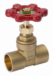B&K 170-4-34-34 Gate Valve, Brass, 0.75-In.