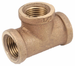 Anderson Metals 738101-02 Pipe Fitting, Rough Brass Tee, Lead-Free, 1/8-In.