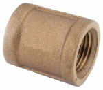 Anderson Metals 738103-04 Pipe Coupling, Lead Free Rough Brass, 1/4-In.