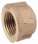 Anderson Metals 738108-02 Pipe Fitting, Rough Brass Pipe Cap, Lead-Free, 1/8-In.