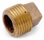 Anderson Metals 738109-08 Pipe Plug, Rough Brass, 1/2-In.