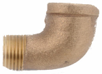 Anderson Metals 738116-06 Pipe Fitting, Street Elbow, Rough Brass, 90 Degree, 3/8-In.
