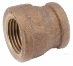 Anderson Metals 738119-0602 Pipe Fitting, Rough Brass Reducing Coupling, Lead-Free, 3/8 x 1/8-In.