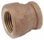 Anderson Metals 738119-0604 Pipe Fitting, Reducing Coupling, Lead Free Rough Brass, 3/8 x 1/4-In.