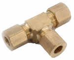Anderson Metals 750064-04 Compression Tee, Brass, 1/4-In.