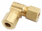 Anderson Metals 750065-06 Elbow, Compression, 90-Degree, Brass, 3/8-In.