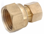 Anderson Metals 750066-0404 Adapter, Brass, Compression, Female, 1/4 x 1/4-In.