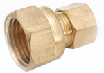 Anderson Metals 750066-0604 Connector, Brass, Compression, Female, 3/8 x 1/4-In.