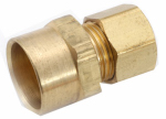 Anderson Metals 750086-0610 Pipe Fitting, Adapter, Lead-Free Brass, 3/8 Compression x 5/8-In. Copper x Copper