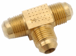 Anderson Metals 754044-08 Pipe Fittings, Flare Tee, Brass, 1/2-In.