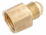 Anderson Metals 754046-0808 Pipe Fitting, Flare Connector, Lead Free Brass, 1/2-In. Flare x 1/2-In. FPT