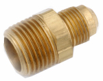 Anderson Metals 754048-0404 Pipe Fittings, Flare Connector, Lead Free Brass, 1/4 x 1/4-In. MPT