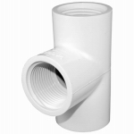 Genova Products 35457 Pipe Fitting, PVC Tee, 3/4-In. FIP