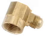 Anderson Metals 754050-0606 Pipe Fittings, Flare Elbow, Lead-Free Brass, 3/8 Flare x 3/8-In. FPT