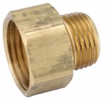 Anderson Metals 757484-121208 3/4-Inch Female Garden Hose x 3/4-Inch Male Iron Pipe Tapped With 1/2-Inch Female Iron Pipe Brass Adapter