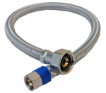 Larsen Supply 10-0113 3/8 Compression x 1/2 Female Iron Pipe x 12-Inch Stainless-Steel Faucet Connector