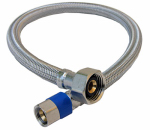 Larsen Supply 10-0121 3/8 Compression x 1/2 Female Iron Pipe x 20-Inch Stainless-Steel Faucet Connector