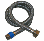 Larsen Supply Co, 10-0131 3/8 Compression x 1/2 Female Iron Pipe x 30-Inch Stainless-Steel Faucet Connector