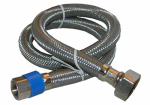 Larsen Supply 10-0149 3/8 Compression x 1/2 Female Iron Pipe x 48-Inch Stainless-Steel Faucet Connector