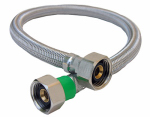 Larsen Supply 10-0417 1/2 Iron Pipe Size x 1/2 Iron Pipe x 16-Inch Stainless-Steel Faucet Connector