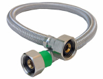 Larsen Supply 10-0421 Faucet Connector, Stainless-Steel, 1/2-In. Iron Pipe Size x 1/2-In. Iron Pipe x 20-In.