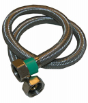 Larsen Supply 10-0431 1/2 Iron Pipe Size x 1/2 Iron Pipe x 30-Inch Stainless-Steel Faucet Connector