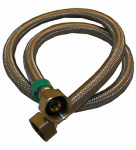 Larsen Supply 10-0437 Faucet Connector, Stainless-Steel, 1/2-In. Iron Pipe Size x 1/2 -In.Iron Pipe x 36-In.