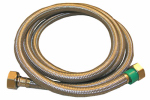 Larsen Supply Co, 10-0449 1/2 Iron Pipe Size x 1/2 Iron Pipe x 48-Inch Stainless-Steel Faucet Connector