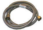 Larsen Supply Co, 10-0473 1/2 Iron Pipe Size x 1/2 Iron Pipe x 72-Inch Stainless-Steel Faucet Connector