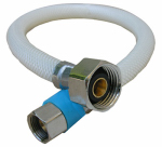 Larsen Supply 10-2113 3/8 Compression x 1/2 Iron Pipe  x 12-Inch Flexible Poly Faucet Connector