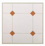 Max KD0307 5th Avenue Vinyl Floor Tile, Peel & Stick, Taupe & White, 12 x 12-In.