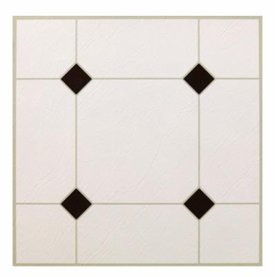 max kd0309 black white peel stick vinyl floor tile 12 x 12 in quantity 1 ebay. Black Bedroom Furniture Sets. Home Design Ideas
