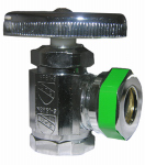 Larsen Supply 06-7025 Angle Stop Valve, Chrome, 1/2-In. Female Pipe Thread Inlet x 7/16-In. Or 1/2-In. O.D. Slip Joint Outlet