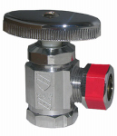 Larsen Supply 06-7207 1/2 Female Pipe Thread Inlet x 1/2-Inch O.D. Compression Outlet Chrome, Angle Stop Valve