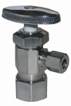 Larsen Supply 06-7251 5/8 O.D. Compression Inlet x 1/4-Inch O.D. Compression Outlet Chrome Angle Valve