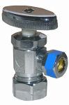 Larsen Supply 06-7253 5/8 O.D. Compression Inlet x 3/8-Inch O.D. Compression Outlet Chrome Angle Valve