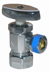 Larsen Supply 06-7255 Angle Valve, Chrome, Coarse Thread Style, 5/8-In. O.D. Compression Inlet x 3/8-In. O.D. Compression Outlet