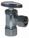 Larsen Supply 06-7265 5/8 O.D. Compression Inlet x 1/2-Inch O.D. Compression Outlet Chrome Angle Stop Valve