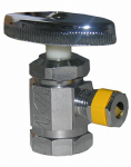 Larsen Supply 06-7271 Pipe Fitting, Angle Valve, Chrome, Lead-Free, 1/2 FPT x 1/4-In. OD Compression Outlet