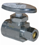 Larsen Supply 06-7273 1/2 Female Pipe Thread Inlet x 3/8-Inch O.D. Compression Outlet Chrome Straight Valve
