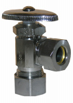 Larsen Supply 06-7283 Angle Valve, Chrome, 5/8 x 7/16-In.