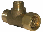 Larsen Supply 06-9101 Angle Stop Add A Tee, Compression, 3/8 x 1/4-In.