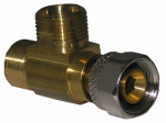 Larsen Supply 06-9111 Angle Stop Add A Tee, 3/8-In. Female Compression Inlet x 3/8-In. Compression x 3/8-In. Compression