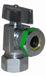 Larsen Supply 06-9231 Angle Valve, Quarter Turn, Chrome, 5/8-In. O.D. Compression Inlet x 7/16 - 1/2-In. Slip Joint Outlet