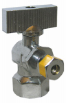 Larsen Supply 06-9265 1/2-Inch Female Pipe Thread Inlet x 1/4 Compression Outlet Quarter Turn Chrome Angle Valve