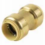 Elkhart Products 10155452 1/2 x 1/2-Inch Copper x Copper Push On Coupling With Stop