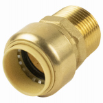 B&K 630-105HC Pipe Fitting, Push On Adapter, 1-In. Copper x Male